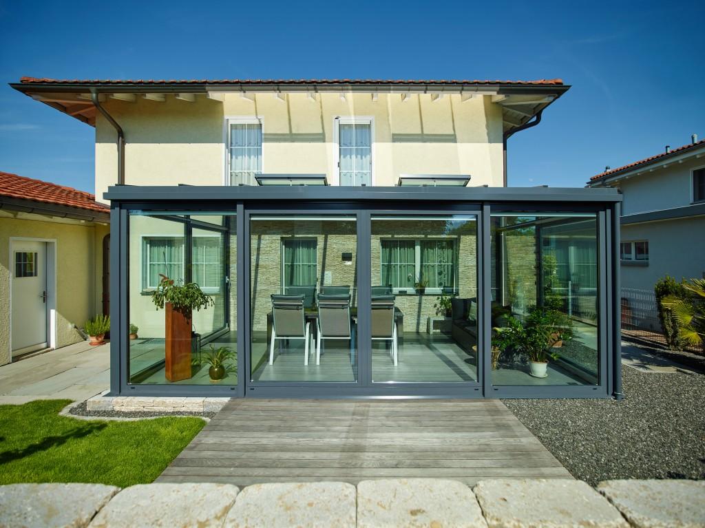 wintergarten einfachverglast alu glas technik. Black Bedroom Furniture Sets. Home Design Ideas